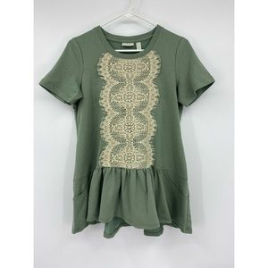 LOGO Lounge by Lori Goldstein lace detail top